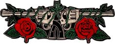 Guns N' Roses Guns Logo Embroidered Big Patch Back Axl Rose Slash Steven Adler Axl Rose Slash, Steven Adler, Band Stickers, Guns And Roses, Black Parade, Logo Sticker, Patches, Embroidered Patch, Tattoos