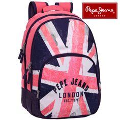 Rucsac cu imprimeu - logo Pepe Jeans Backpacks, Hats, Grande, Queens, Logo, Templates, Logos, Hat, Backpack