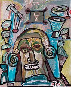 """Lucebert/ """"el bebedor"""" (1989) (the drinker)"""