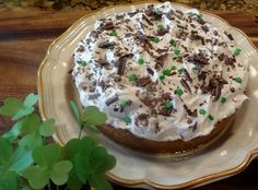 "Irish Banoffee Pie ""This is a traditional popular pie in Ireland and England. The pie is full of caramel, bananas, coffee flavored whipped cream, and shaved chocolate. It is delicious. What a great dessert for St. Patrick's Day or any special day of the year. It is a fairly easy pie to make."""