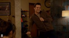 GIF, must click to see motion. Jake Johnson on Nick Miller's Craziest Moves -- Vulture