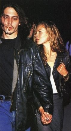 kate moss style 90s with johnny depp
