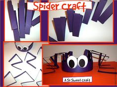 spider hat...totally doing this with my kiddos who have cutting goals