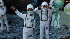 TUĞÇE&MERT ÇOCUKLAR İKİZLER twins space alien