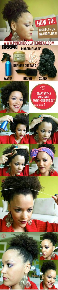 Check out how you can create a high puff in 6 easy steps.  Pin now, read later ;-)