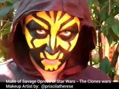 Make of Savage Opress - Star Wars the clones wars - Makeup Artist by @priscilatherese - YouTube
