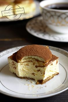 Serowe cappuccino – bez pieczenia – Smaki na talerzu Polish Desserts, Polish Recipes, Sweet Recipes, Cake Recipes, Cheesecake, Sicilian Recipes, Sicilian Food, Low Carb Side Dishes, Artisan Bread