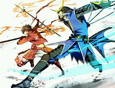 Sengoku basara. Ehh this sums up mine and my sisters game play. She's always Masamune & I'm always Yukimura.
