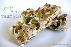 "Nut-Free ""KIND"" Bars (GF) #TheNourishingHome"