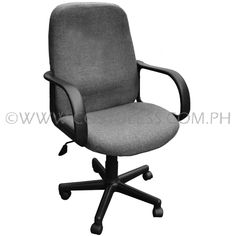 Product Code: MBC-144  Sale Price:P2 799.00 Description:  Ergodynamic™ Mid Back Office Chair, Fabric Upholstery, 300mm Nylon Base & Nylon Casters, Tilt Lock Mechanism, Swivel Function, Pneumatic Height Adjustment  Chair Capacity: 70kgs.  Classification: LIGHT DUTY  Usage: HOME OFFICE USE