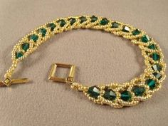 Emerald City Flat Spiral Bracelet Free Beading Pattern