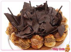 Tarta Saint Honoré con chocolate   Sucre Art