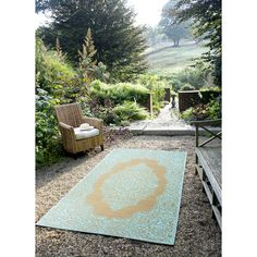 You'll love the World Istanbul Fair Aqua & Warm Taupe Indoor/Outdoor Area Rug at AllModern - With Great Deals on modern Décor  products and Free Shipping on most stuff, even the big stuff.