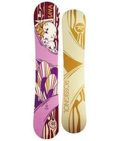 The Rossignol Diva Magtek is a great All Mountain Snowboards for the Ladies. With all-terrain versatility and slay-it-all performance the Dive offers Magne-Traction for ninja-like grip on the hard-pack and all terrain rocker for effortless float in the deep stuff.  $336.95
