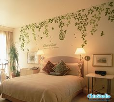 Vinyl Wall Decals wall sticker nature wall decals-Classic of forest with bird birdcage wall arts. $58.00, via Etsy.