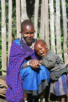 Masai Child laughing with Mom by Janelle Erickson Photos, via Flickr