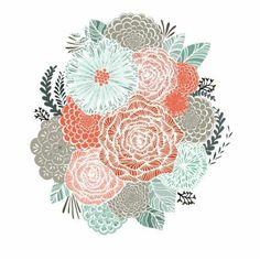 illustration, art, flowers
