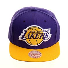new concept aac21 0baa9 Mitchell   Ness Los Angeles Lakers Snapback - 2T Purple, Gold,   30.00  Lakers. Hat Club