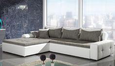 Narożnik firmy Eccelent urzeka połączeniem prostoty z finezją. Duża powierzchnia wypoczynkowa sprawia, że zestaw ten sprawdzi się jako idealne dopełnienie salonowego wnętrza.