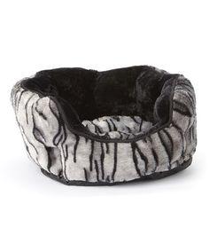 White Tiger Fluffy Fleece Cuddler Pet Bed #zulily #zulilyfinds