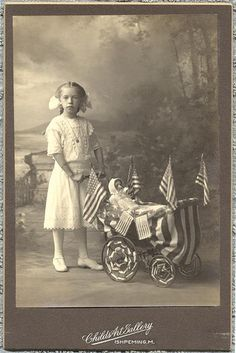 ~Patriotic little girl with her doll