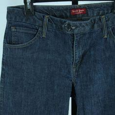 Levi's Womens Size 12 12M Blue Jeans Levis Denim Straight Wide Leg Trousers #Levis #WideLeg