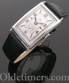 1920s silver rectangular vintage Omega watch (4150) International Watch Company, Vintage Omega, Automatic Watch, Software Development, Vintage Watches, Omega Watch, 1920s, Jewels, Men's Jewellery