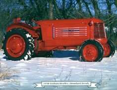 Sears-Roebuck catalog–the only place a gorgeous Graham-Bradley could be ordered! Available only in 1938-39, this rakish tractor was produced by the Graham-Paige people who built a stylish car by that same name. The tractor's 6-cyl. Graham-Paige engine had bore and stroke of 3.25x4.375 for 217.8 cu. in. At 1,500 rpm it produced 30 hp on belt, 25 on drawbar. It looked fast and was–it could whiz by you in fourth gear going 25 mph.
