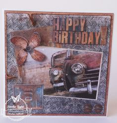 Studio Light: Industrial mannenkaart Birthday Verses For Cards, Stamping Up Cards, Fathers Day Cards, Funny Cards, Masculine Cards, Diy Cards, Card Making, Scrapbook, Inspirational