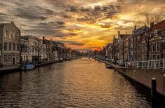 Waterway, Channel, Holland, Homes