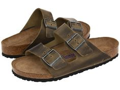 These are my favourite sandals...I love the soft foot bed ....Arizona in Cocoa leather!