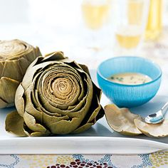 Artichokes with Roasted Garlic-Wine Dip  Follow the link to view the recipe  Order Skinny Fiber here http://Piamaya.SBC90DayChallenge.com