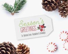 EDITABLE Christmas gift tags Printables Christmas Gift Tags
