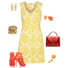 """Sunny Dress on a Rainy Day"" by style-inspiration-and-design on Polyvore"