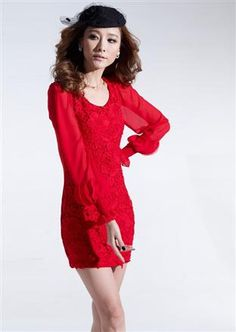 Autumn Fashion Temperament Lace Slim Dress