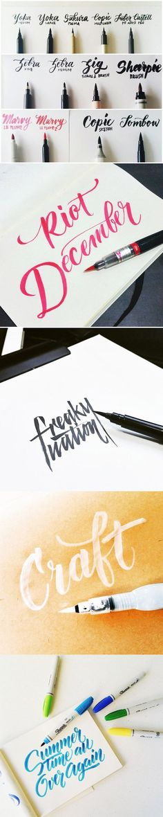 A guide to brush lettering. Brush lettering gives designs a handmade feel. #handtype #calligraphy #typography calligrafikas.tum...
