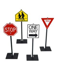 Take a look at this Yield Sign Set by Angeles on #zulily today!