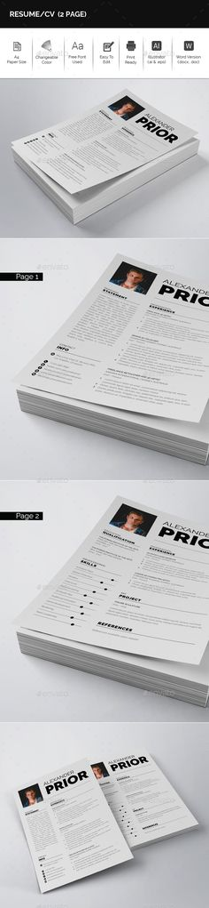 Resume \ Cover Letter Template v4 Resume cover letter template - is a cv a resume