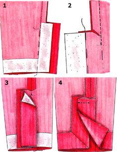 Обработка разреза рукава для застежки   pokroyka.ru-уроки кроя и шитья