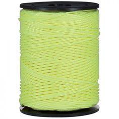 Drisse polypropylène Gambier jaune fluo diamètre 1,5 mm longueur 100 m