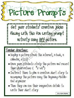 Picture Prompt Writing Activity product from Joy in the Journey on TeachersNotebook.com