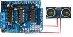 Connecting Ultrasonic Sensor on Adafruit Motor Shield v1