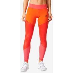 adidas Gradient Leggings ($90) ❤ liked on Polyvore featuring pants, leggings, adidas leggings, adidas, red trousers, adidas trousers and legging pants