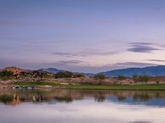 Another beautiful ending in Mesquite #golfporn #bluehour #golftrip