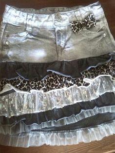Riciclo di un jeans e un vestitino