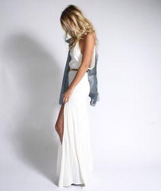 thestonecoldfox.com  Onyx Gown in White  @stone_cold_Fox @viciously_cyd