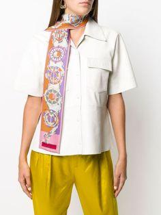 Emilio Pucci Quirimbas Print Twilly Scarf - Farfetch Emilio Pucci, Accessories Shop, Button Down Shirt, Men Casual, Mens Tops, Shirts, Shopping, Women, Fashion