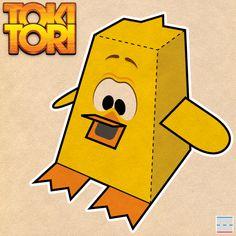 Paper Foldable I designed for TOKI TORI video game: http://www.paperfoldables.com/tokitori_paperfoldable.pdf