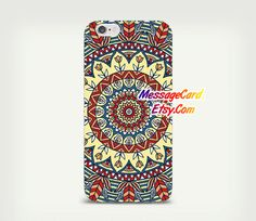 Mandala Clear Phone Case Cover  Crystal Clear by MessageCard