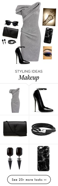 """""""Beauty"""" by hanakdudley on Polyvore featuring Maticevski, Yves Saint Laurent, ZeroUV, Casetify and Bling Jewelry"""